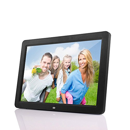 Luxsure Black 12 Inches High Resolution Digital Photo Frame 16:9 Screen 1280×800 Pixels MP3 Music MP4 Video Play Electronic Picture Frames for Home Office Decor