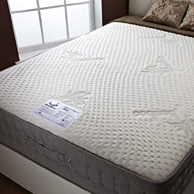 Happy Beds Natural Bamboo 2000 Memory Foam Pocket Sprung Mattress Bedroom Sleep