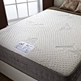 Happy Beds Bamboo Vitality 2000 Double Memory Foam Pocket Sprung Mattress, 4.6 ft