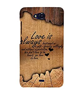 Beautiful Love Quote 3D Hard Polycarbonate Designer Back Case Cover for Micromax Canvas Play Q355