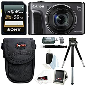 Canon PowerShot SX720 HS Digital Camera w/ 32GB SD Card & Accessory Bundle