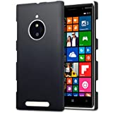 Terrapin [Extra Slim Fit] Hybrid Rubberised Protective Hard Case for Nokia Lumia 830 (Black)