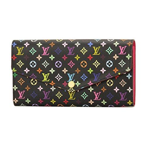 ルイヴィトン(Louis Vuitton) モノグラム マルチカラー MONOGRAM MULTI COLOR M60668 長財布 ブラック ピンク[並行輸入品]