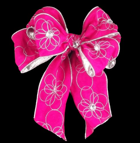 Offray Wired Edge Cherie Craft Ribbon, 4-Inch Wide by 10-Yard Spool, Pink
