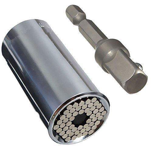 51mZkIufyhL - BEST BUY #1 Hakkain One Set Universal Gator Socket Adapter with Power Drill Adapter Tool 7-19mm