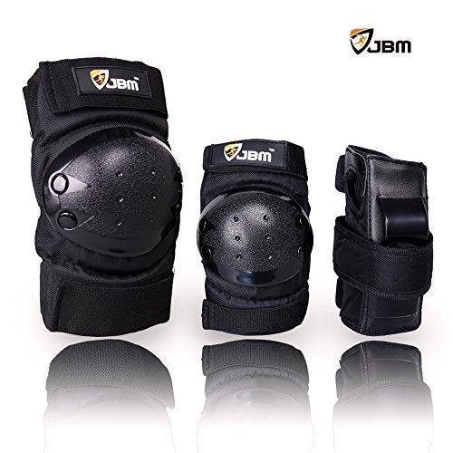 JBM International Knee Elbow Wrist Support Pad set for Children, Black
