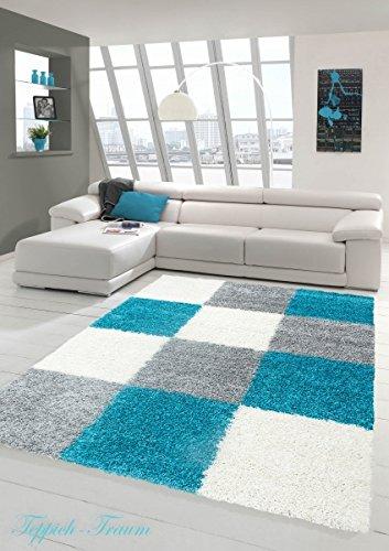 shaggy-tapis-shaggy-pile-longue-tapis-tapis-de-salon-patterned-dans-karo-design-gris-creme-turquoise