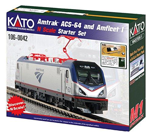 Kato USA Model Train Products N Amtrak ACS-64 & Amfleet I Starter Set (Amtrak Train Model compare prices)