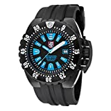 Luminox 1503-S1 Men's Deep Diver 1500 Series Automatic Black Polyurethane Blue Accents Watch (Color: black)