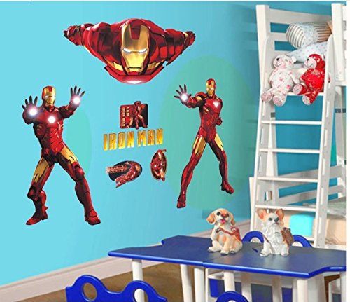 Home Wall Decor Decals Poster House Wall Stickers Quotes Removable Vinyl Large Wall Sticker For Kids Rooms Iron Man W-727 front-145898