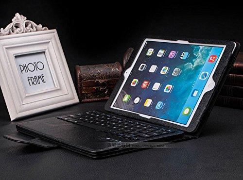 iPad air 2 ケース iPad air 1 ケース bluetooth レザー キーボード/iPad air2 スマートケース iPad air1 スマートケース/IPADAIR2 アイパッド IPADAIR1 アイパッド IPAD 6 ケース IPAD 5 ケース カバー アイパットケース/[iPad]ノートタイプipad ケース/ipad カバー レザー/ipad ケース ブランド(ブラック)