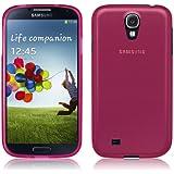 PrimaCase - Rose (Pink) - Coque TPU Silicone Semi-Transparent pour Samsung Galaxy S4 i9500 / i9505
