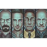 Posterhouzz TV Show Breaking Bad Mike Ehrmantraut Gustavo Fring Jesse Pinkman Walter White...HD Wall Poster