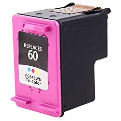 eForCity HP-60 Tri-Color iNK Cartridge CC643WN Compatible with HP Deskjet