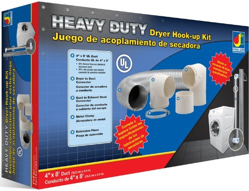 Dundas Jafine Mfx48Ulkit Heavy Duty Universal Dryer Hook-Up Kit, Silver And White front-622071