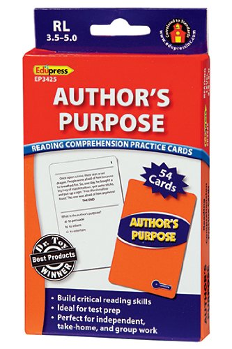 Author's Purpose Practice Cards Blue Level