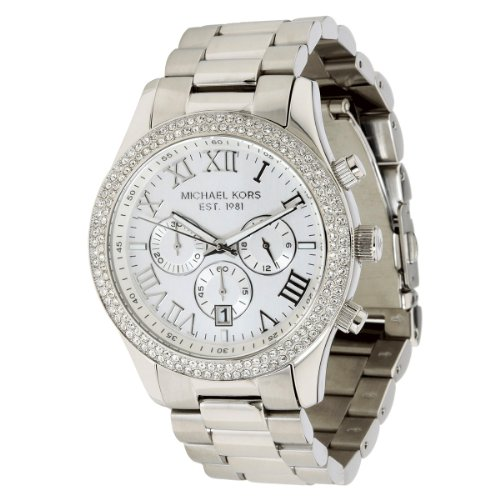 Michael Kors MK5667 Ladies Silver Chronograph Watch