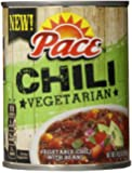 Pace Vegetarian Chili with Beans, 14.5 Ounce (Pack of 12)