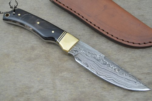 Huge Sale By Leather-N-Dagger | Professional High Quality Custom Handmade Damascus Steel Hunting Knife (100% Satisfaction Guaranteed) Great Gift Ld165