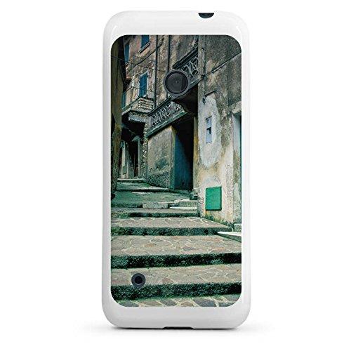 nokia-lumia-530-hulle-silikon-case-schutz-cover-gasse-gebaude-treppe