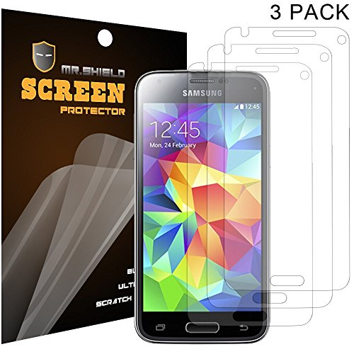 Mr Shield Samsung Galaxy S5 Mini (Dx) Premium Clear Screen Protector [3-Pack] With Lifetime Replacement Warranty