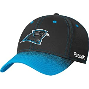 Carolina Panthers 2009 NFL Second Season Sideline Flex-Fit Cap by Reebok (Black-Carolina)