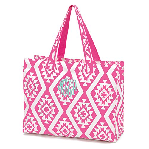 19.5 Inch Zipper Closure Beach Tote Bag