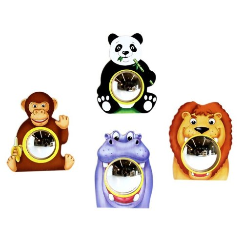 Anatex Animal Friends Wall Mirrors (Set Of 4)