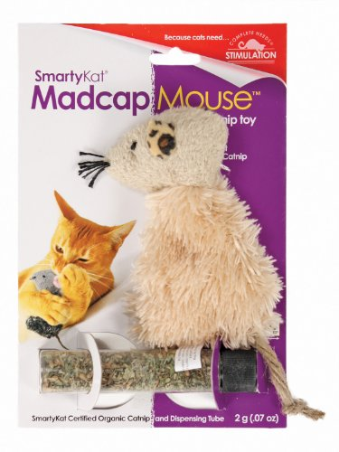 Image SmartyKat Madcap Mouse Cat Toy Refillable Catnip Toy