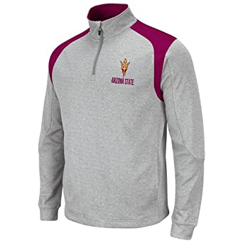 NCAA Arizona State Sun Devils Mens Frost 1 4 Zip Fleece Sweatshirt by Colosseum
