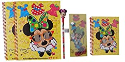 Disney\'s Minnie Mouse Ultimate Back to School Set: Spiral Notebooks, Mini Notepad, Pencil Case, Minnie Pencil, and Topper