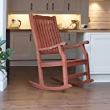 Wellwood Traditional Classic FSC Hardwood Rocking Chair- Hard Wearing - For Indoor or Outdoor Use