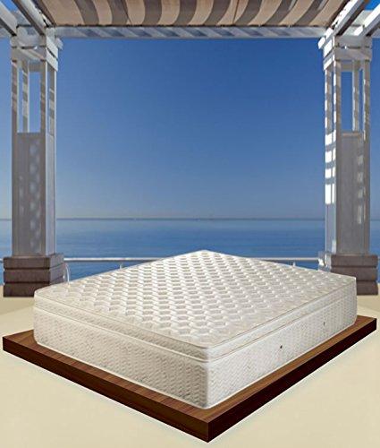 Materasso IGNIFUGO singolo 80x190 certificati ignifughi FORNITURA per hotel-b&b-affittacamere-resort-albergo (80x190, Super deluxe Molle indipendenti e memory)