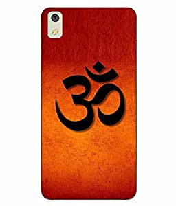 Case Cover Religion Printed Orange Hard Back Cover For LYF WATER 8