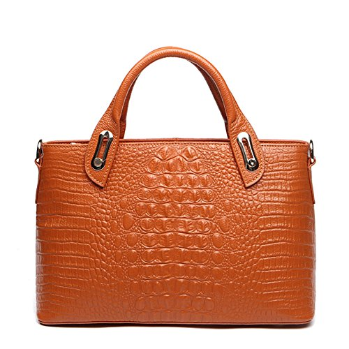 Vlokup Genuine Leather Crocodile Top-Handle Bag For Women 1158