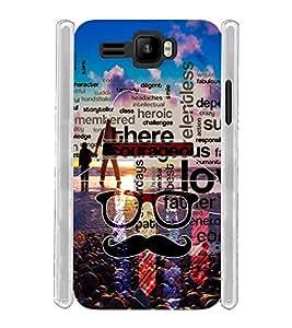 Dad Moustache Goggles Soft Silicon Rubberized Back Case Cover for Intex Aqua R3 Plus