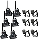Baofeng UV-5R UHF/VHF 136-174/400-480 MHz Dual-Band CTCSS/DCS FM Transceiver with Retevis Earpiece Ham Amateur Radio Walkie Talkie 2 Way Radio Long Range Black 6 Pack and Retevis Speaker Micphone 6 Pack High Quality!!!