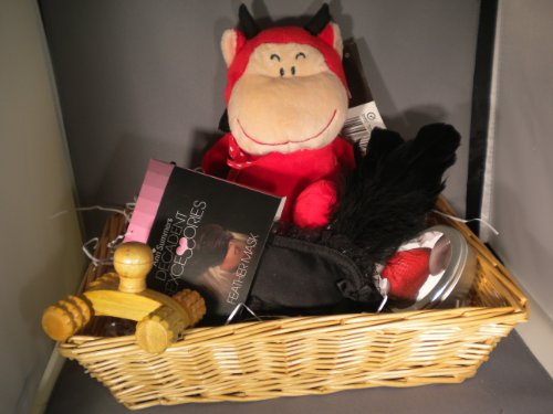 Seduction Kit Lickable Strawberry Skin Candle,Feather Blindfold,Toy Devi,lMassager