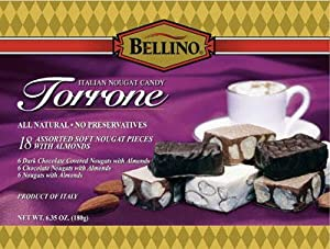 Bellino Assorted Torrone (Nougat) Candy, 6.35 Ounce Box