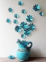 Ambiance-sticker Vinilo Decorativo 12 Piezas 3D Adhesive Flowers Chic Mirror