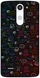 The Racoon Grip Halloween hard plastic printed back case / cover for LG G3 Beat