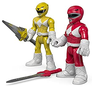 Fisher-Price Imaginext Power Rangers Red Ranger & Yellow Ranger Toy Figure