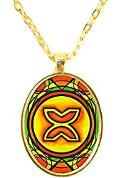 Adinkra Bese Saka for Affluence & Abundance Gold Pendant
