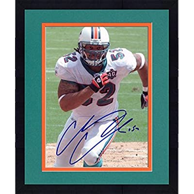 Framed Channing Crowder Miami Dolphins Autographed 8