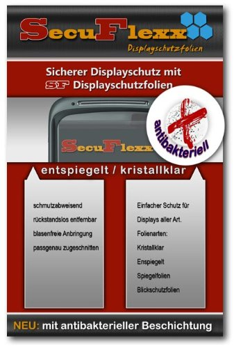 Antibakterielle Crystal Clear (kristallklar) Display Schutz Folie passend f&#252;r Car PC mit 26.4 cm (10.4 Zoll) Displays [210 x 158 mm, Seitenverh&#228;ltnis 4:3]
