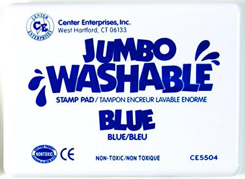 Center Enterprise CE5504 Jumbo Washable Stamp Pad, Blue