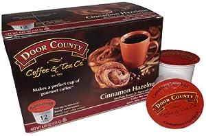 Door County Coffee Cinnamon Hazelnut, 12 Single Serve Cups