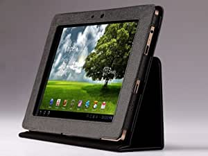MoKo(TM) Folding Cover Case with Stand for Asus Eee Pad Transformer 10.1-Inch Android Tablet (TF101 Sleeve) Black