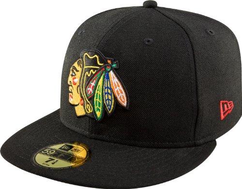 NHL Chicago Blackhawks Basic 59Fifty Cap, Black, 7 3/8