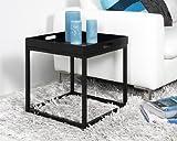 ABC Home Scandinavian Style Tray Table, Black